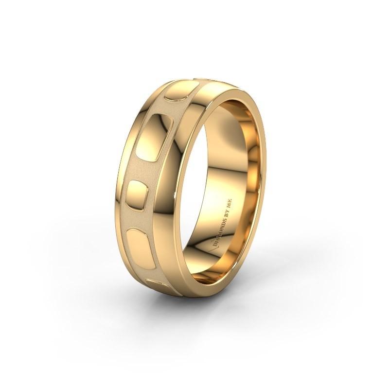 Trouwring WH2002M 585 goud ±7x2 mm