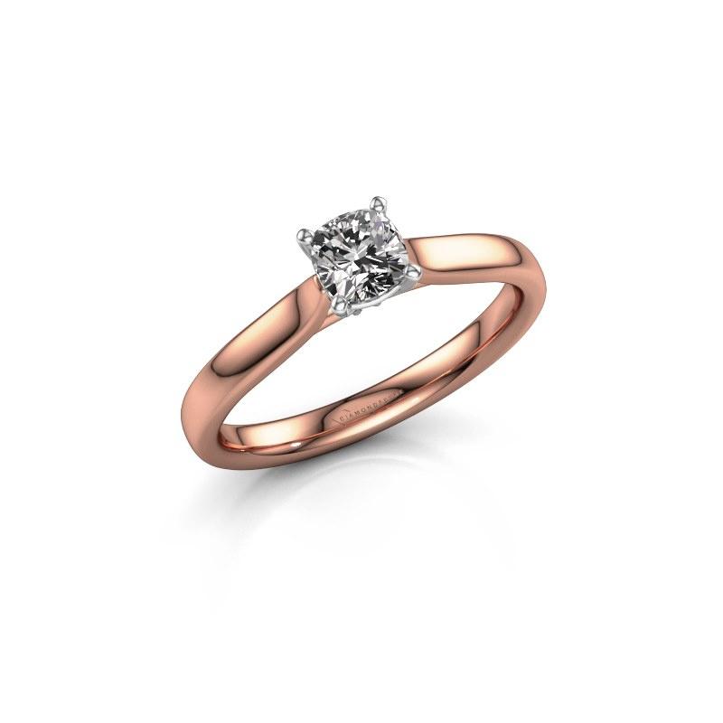 Verlovingsring Mignon cus 1 585 rosé goud diamant 0.50 crt