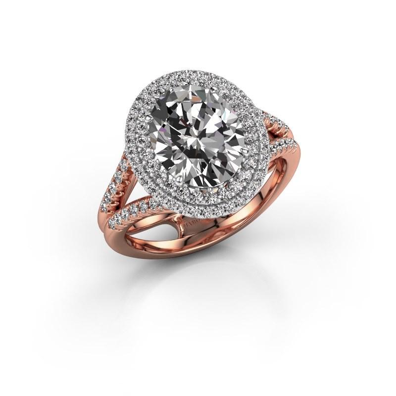 Verlovingsring Elvie 585 rosé goud diamant 3.295 crt