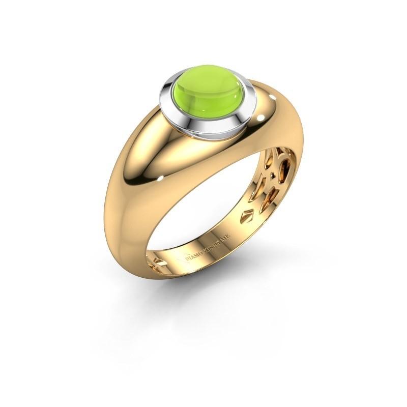Ring Sharika 585 goud peridoot 6 mm