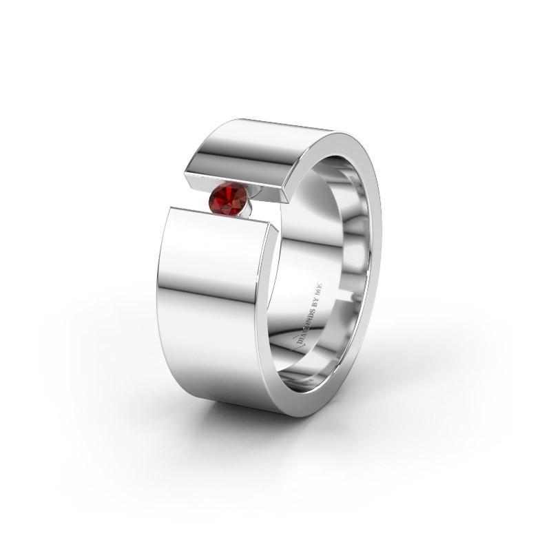 Ehering WH0146L18BP 925 Silber Granat ±8x2 mm
