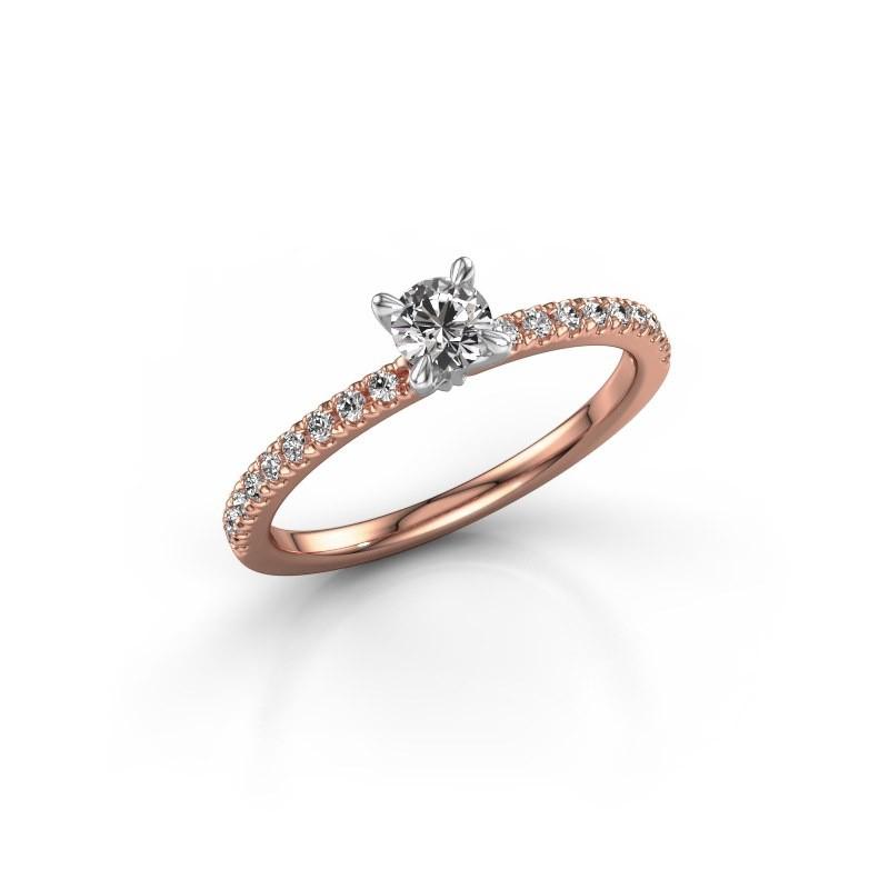 Verlobungsring Crystal rnd 2 585 Roségold Diamant 0.48 crt
