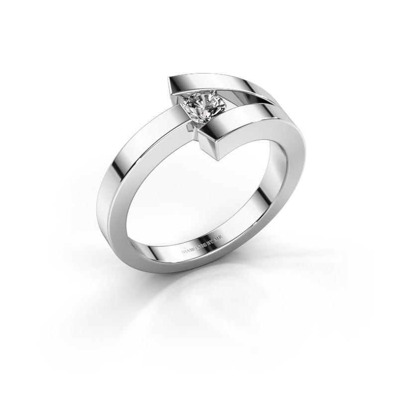 Bague Sofia 585 or blanc diamant synthétique 0.20 crt