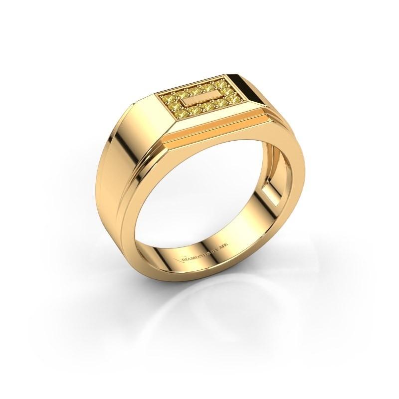 Men's ring Roan 375 gold yellow sapphire 1.5 mm