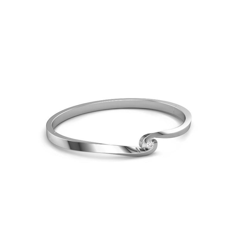 Bangle Sheryl 950 platinum zirconia 3.7 mm