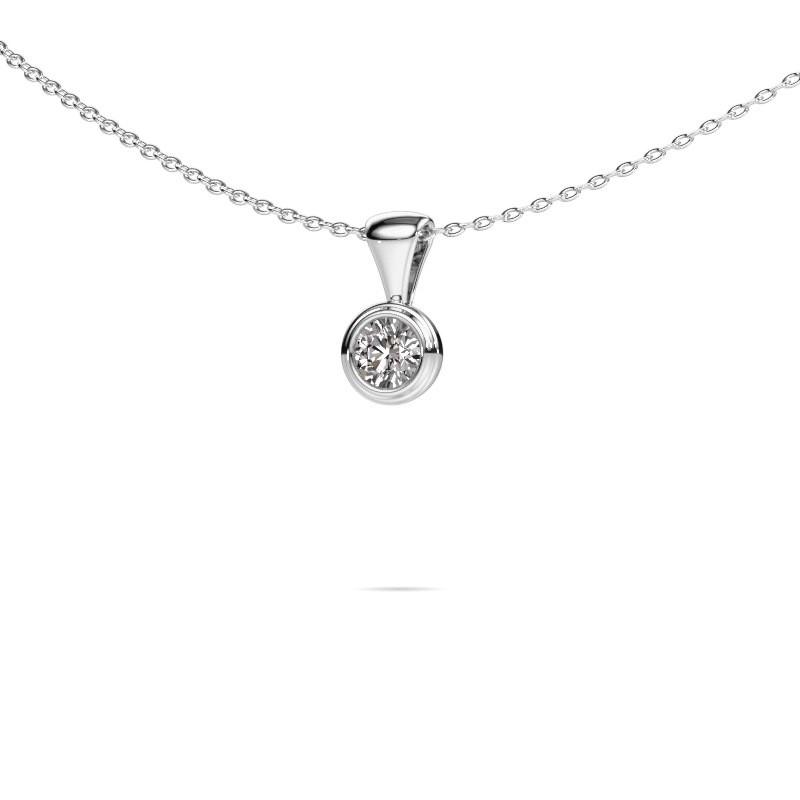 Ketting Lieke 950 platina lab-grown diamant 0.25 crt