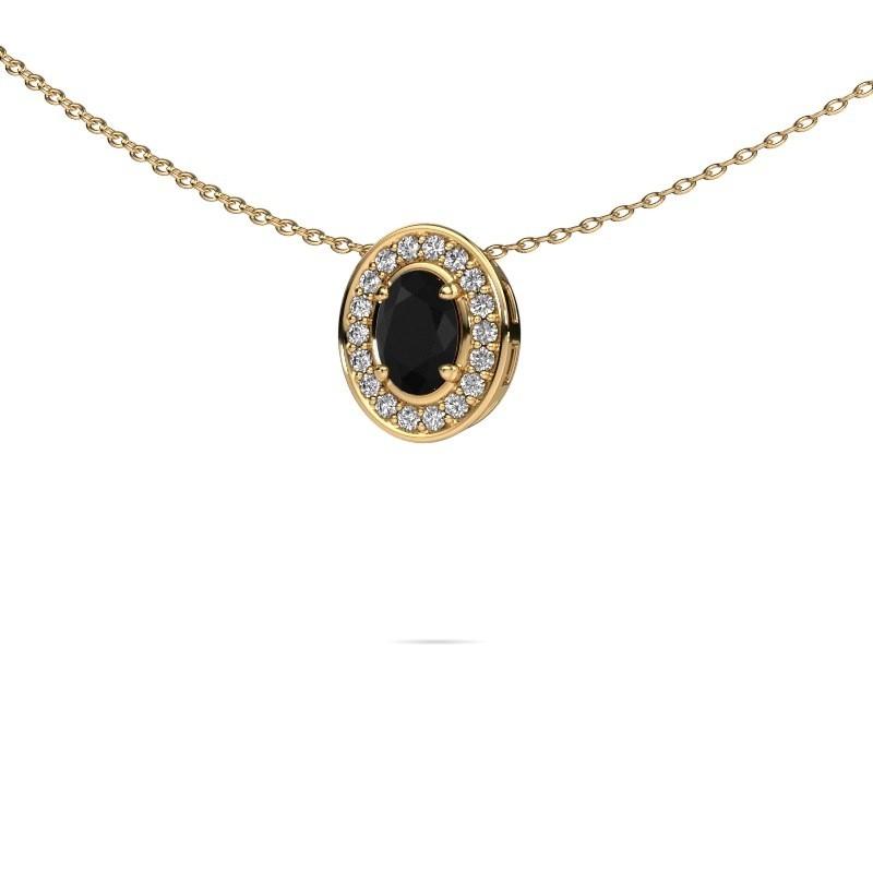 Ketting Madelon 375 goud zwarte diamant 0.78 crt