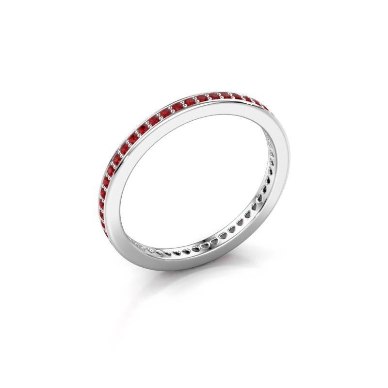 Aanschuifring Elvire 1 925 zilver robijn 1.1 mm