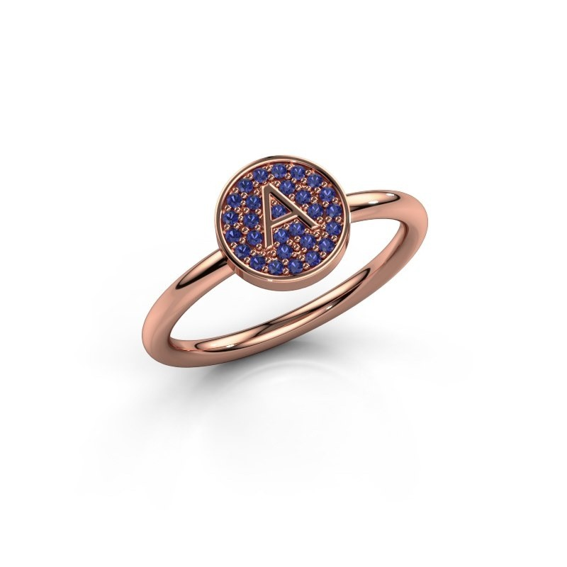 Bague Initial ring 021 375 or rose