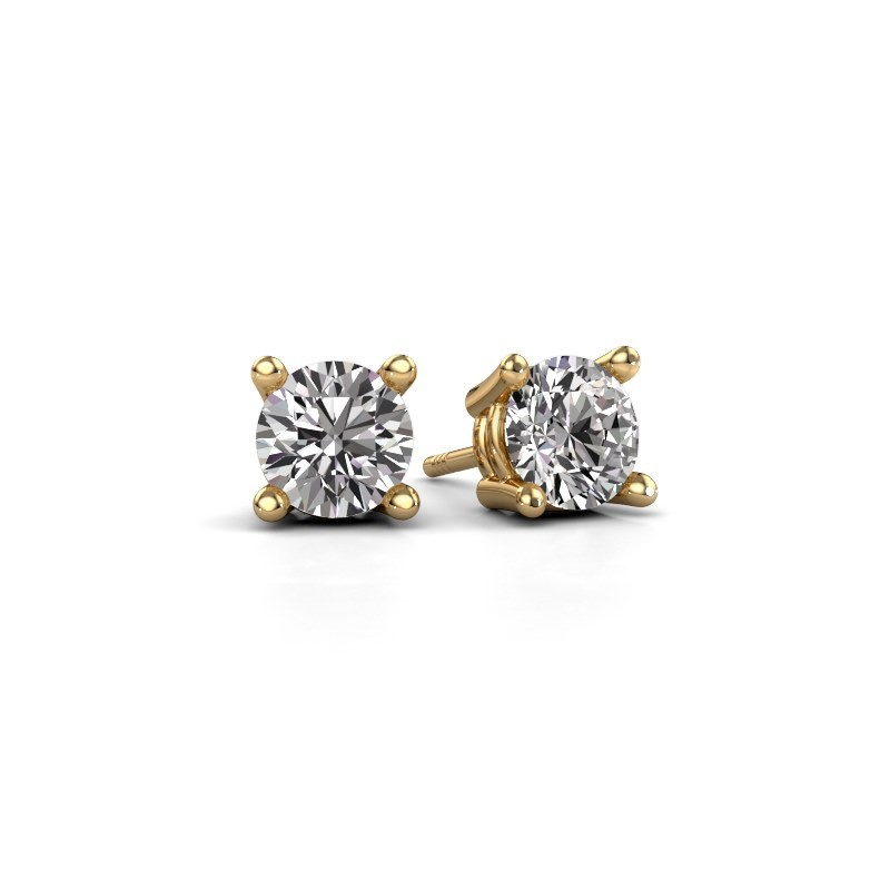 Stud earrings Jannette 585 gold diamond 0.20 crt