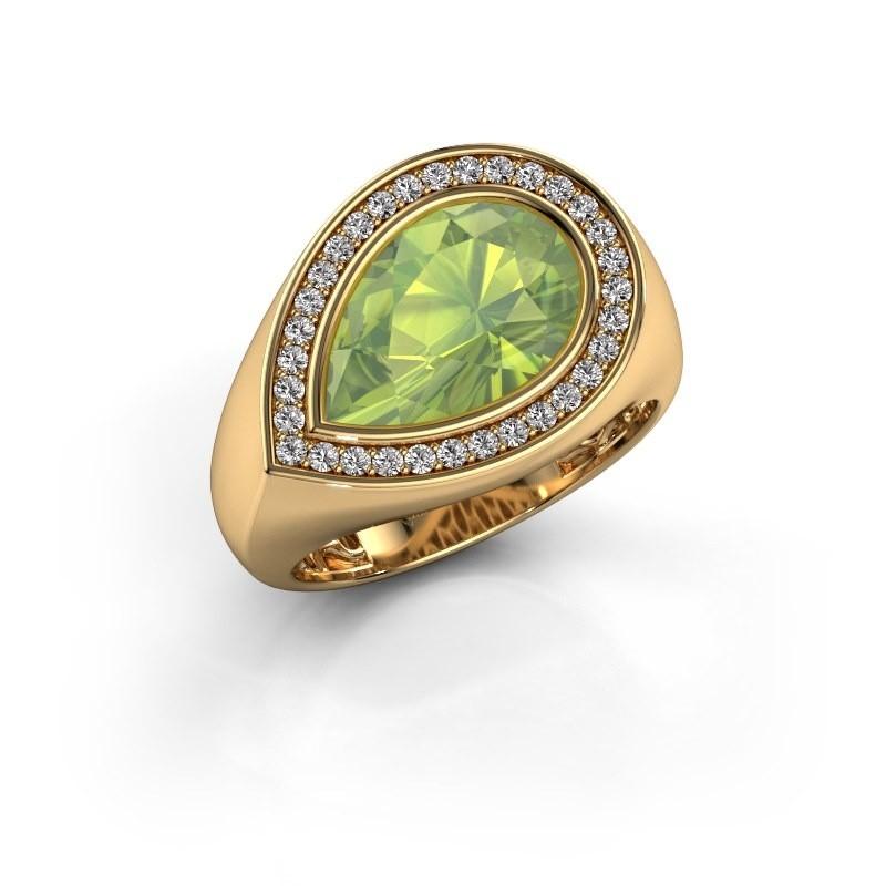 Ring Latashia 585 goud peridoot 12x8 mm