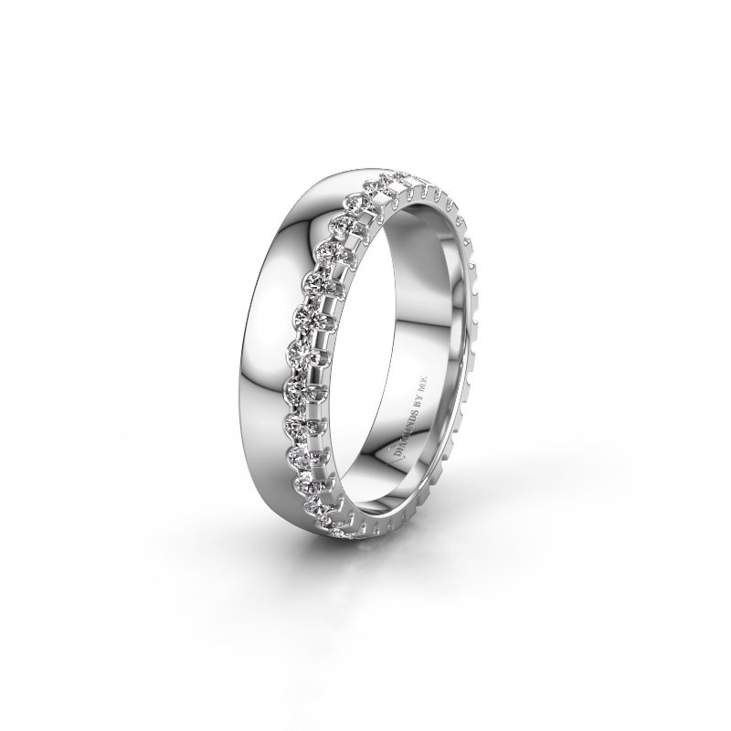 Wedding ring WH6122L25B 950 platinum diamond ±5x2 mm