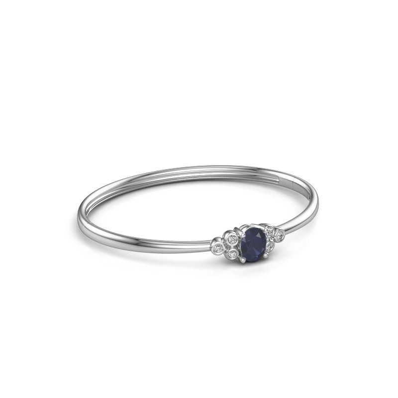Bangle Lucy 585 white gold sapphire 8x6 mm