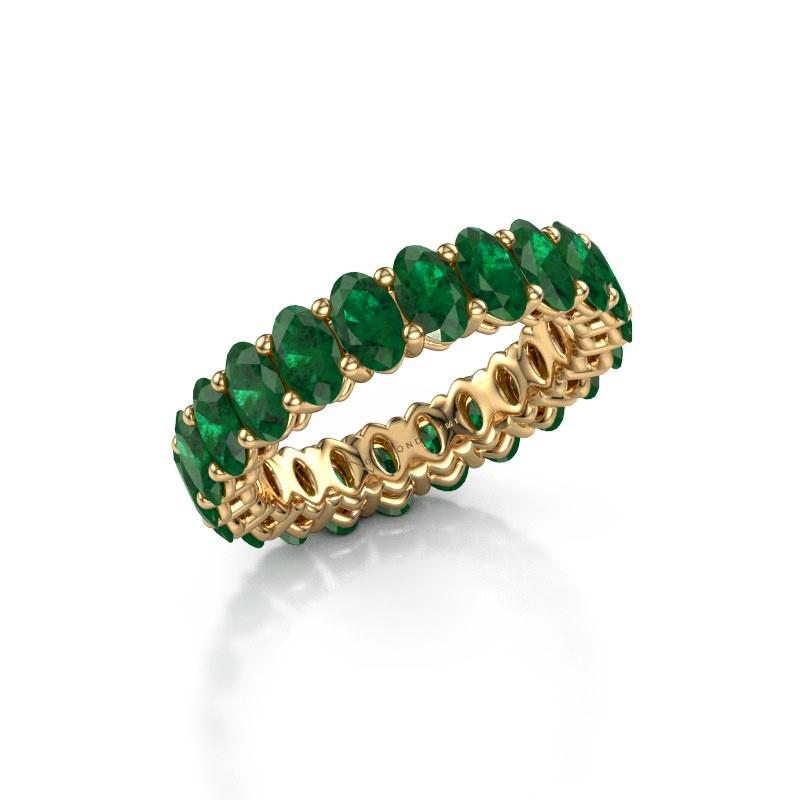 Vorsteckring Heddy OVL 3x5 585 Gold Smaragd 5x3 mm