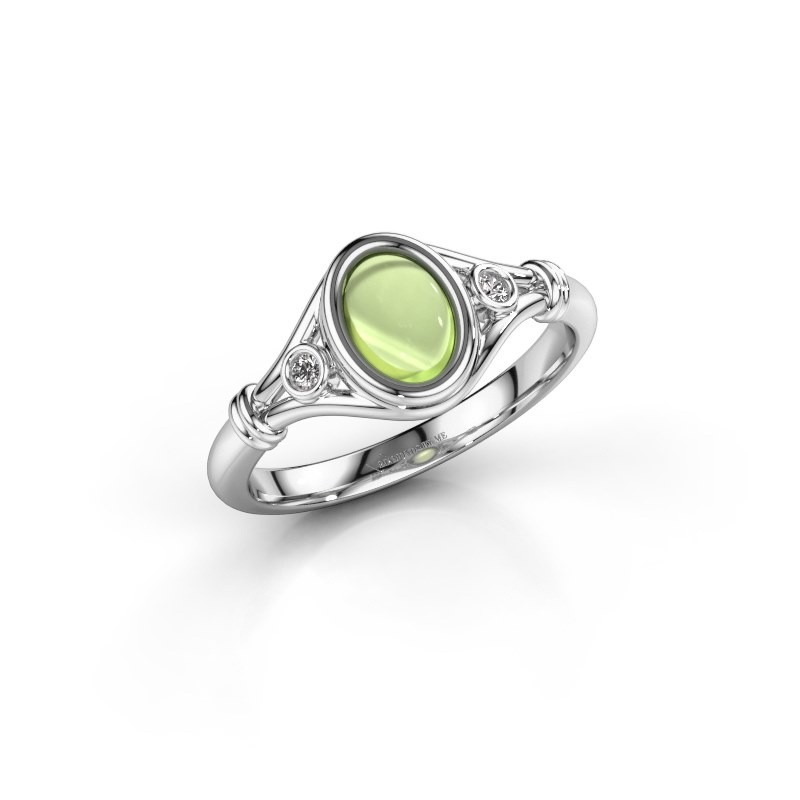 Ring Scarlett 925 zilver peridoot 7x5 mm