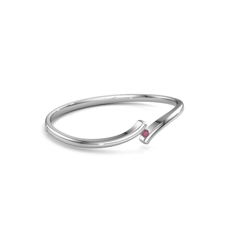 Bangle Amy 950 platinum rhodolite 3.4 mm