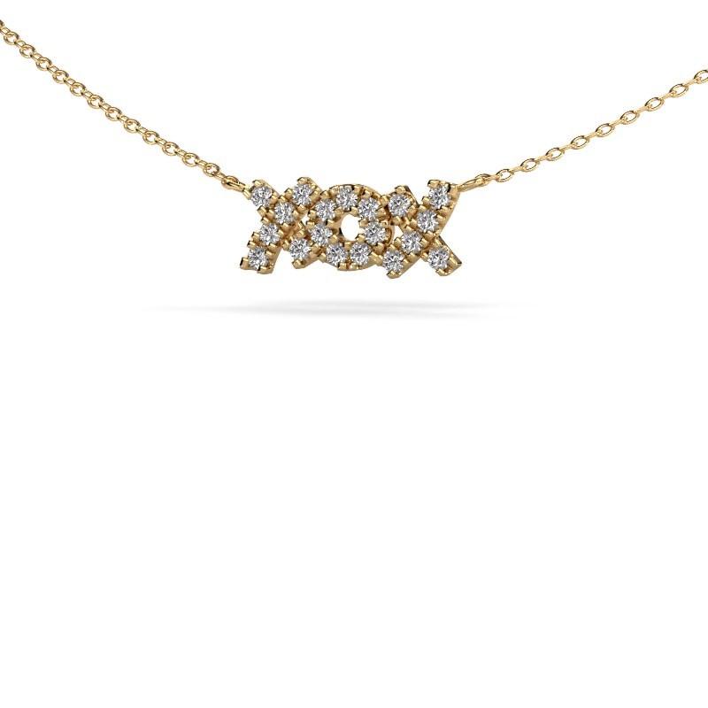 Ketting XoX 375 goud diamant 0.285 crt