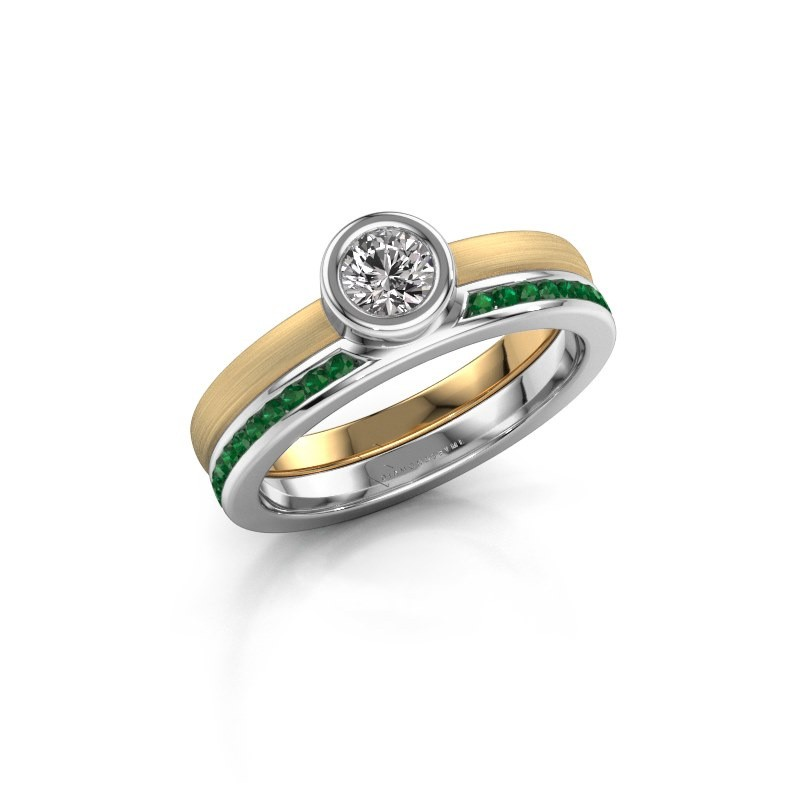 Ring Cara 585 gold emerald 4 mm