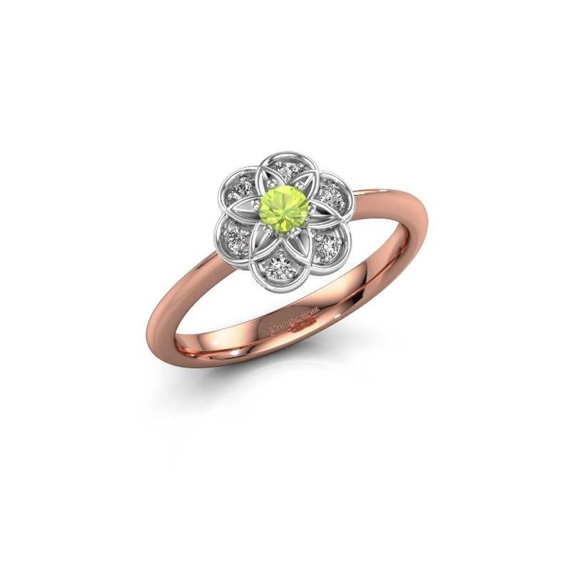 Engagement ring Uma 585 rose gold peridot 3 mm