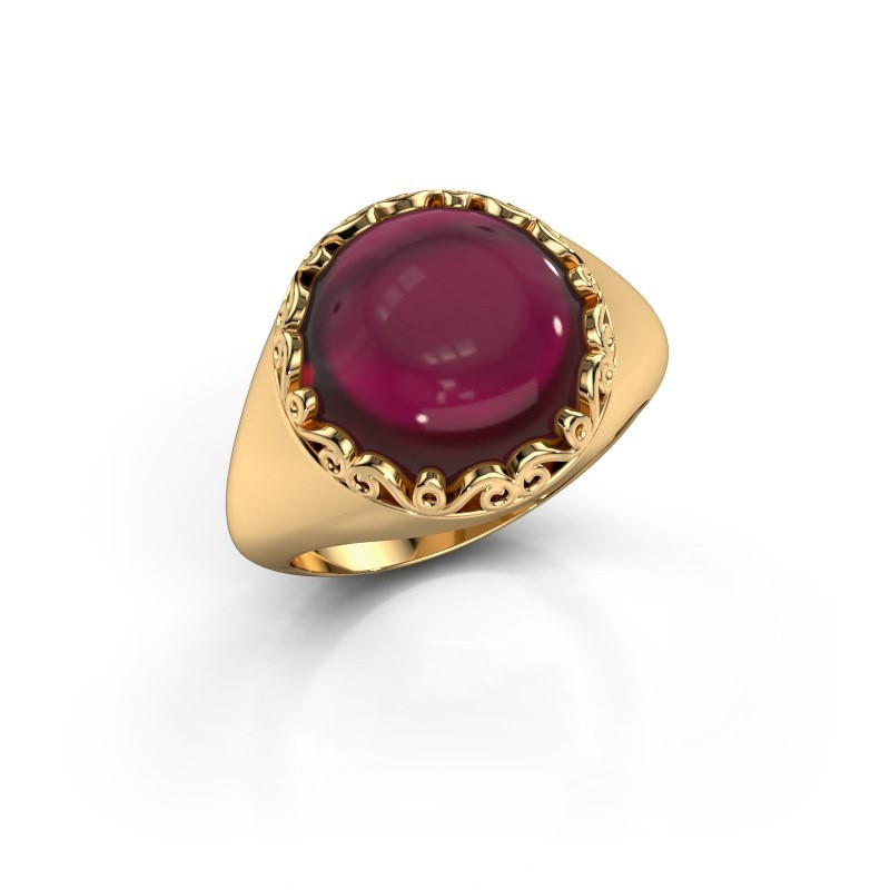Ring Birgit 585 goud granaat 12 mm