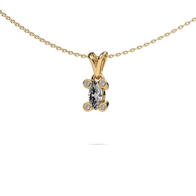 Ketting Cornelia Marquis 585 goud lab-grown diamant 0.35 crt