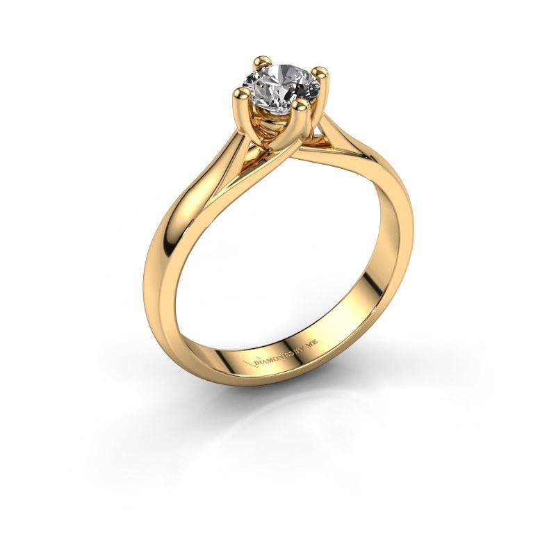 Bague de fiançailles Janne 585 or jaune diamant 0.40 crt