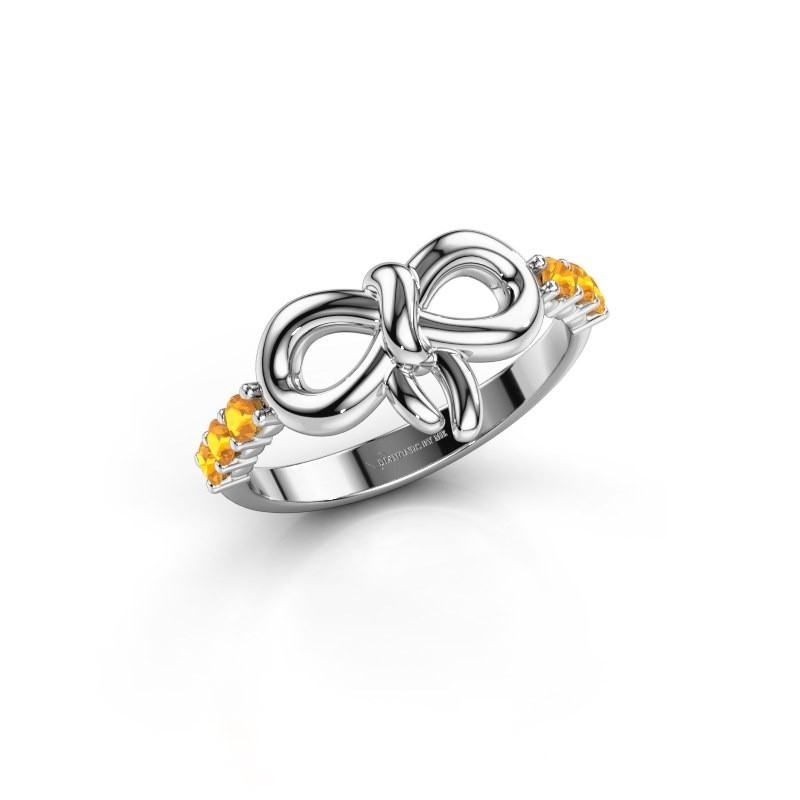 Ring Olympia 950 platina citrien 2.2 mm