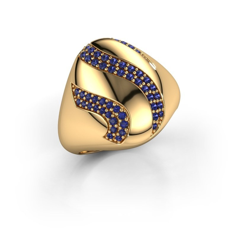 Ring Vilma 375 goud saffier 1.2 mm