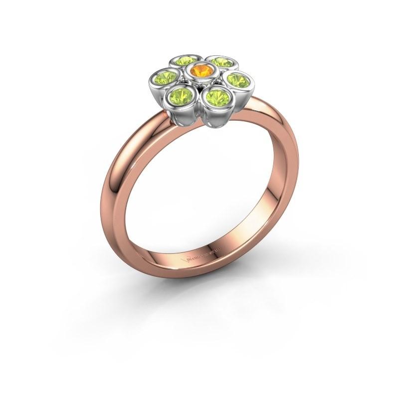 Ring Aaliyah 585 rose gold citrin 2 mm