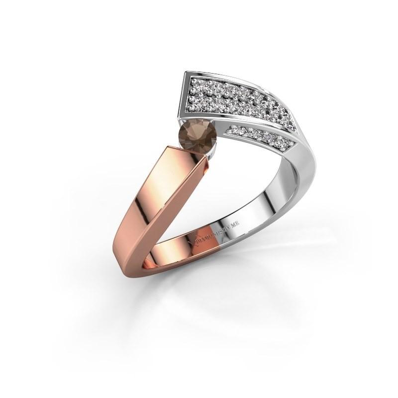 Ring Evie 585 Roségold Rauchquarz 3.4 mm