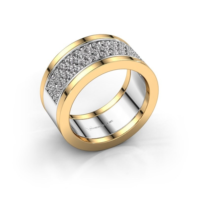 Ring Marita 7 585 witgoud diamant 0.82 crt