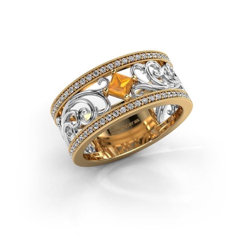Ring Danae 585 gold citrin 3 mm