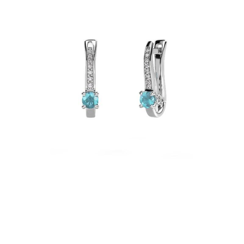 Ohrringe Valorie 925 Silber Blau Topas 4 mm