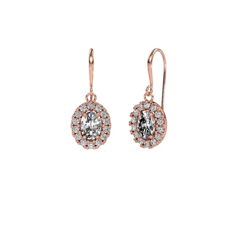 Oorhangers Jorinda 1 375 rosé goud lab-grown diamant 2.16 crt