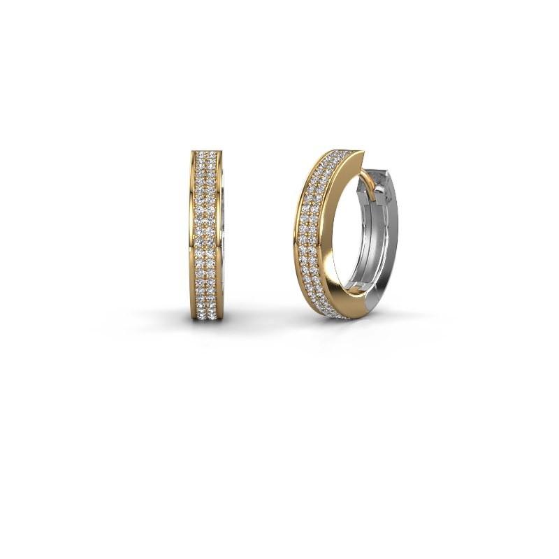 Creolen Renee 5 12 mm 585 goud zirkonia 1 mm