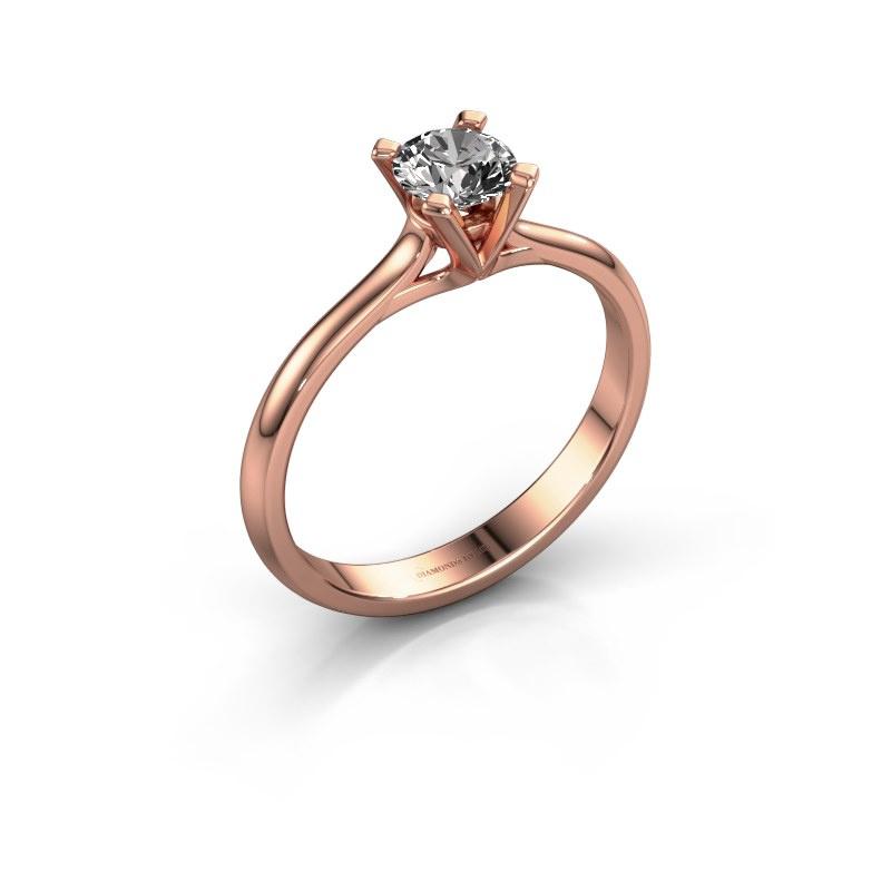 Verlovingsring Isa 1 585 rosé goud diamant 0.50 crt