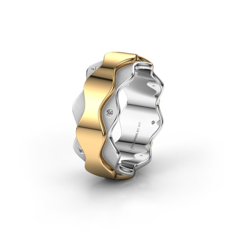 Trouwring WH2034P 585 witgoud diamant ±7x2.4 mm