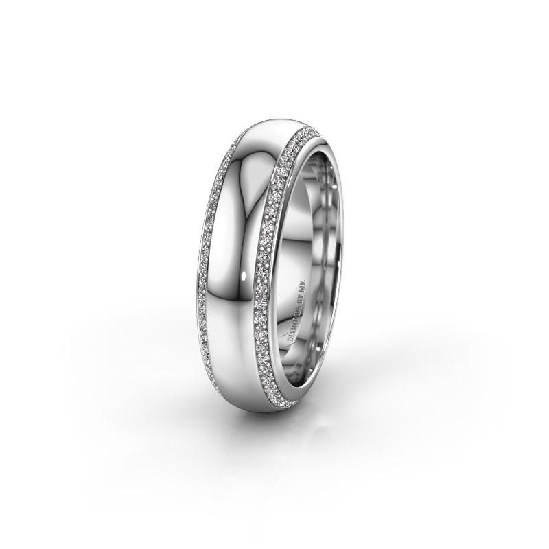 Trouwring WH6132L36C 925 zilver zirkonia ±6x2.2 mm
