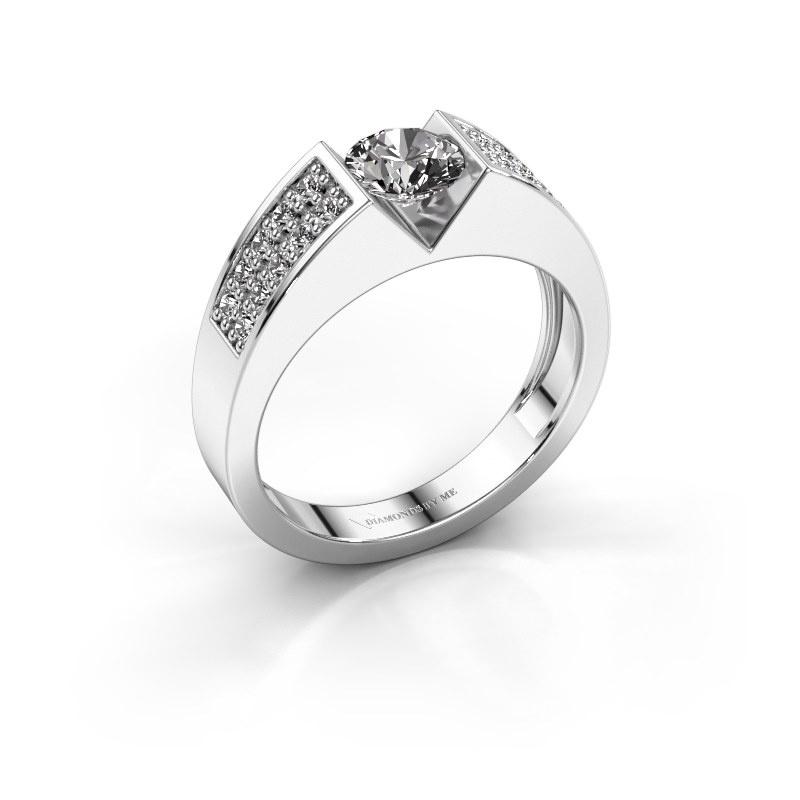 Engagement ring Lizzy 3 585 white gold diamond 0.900 crt