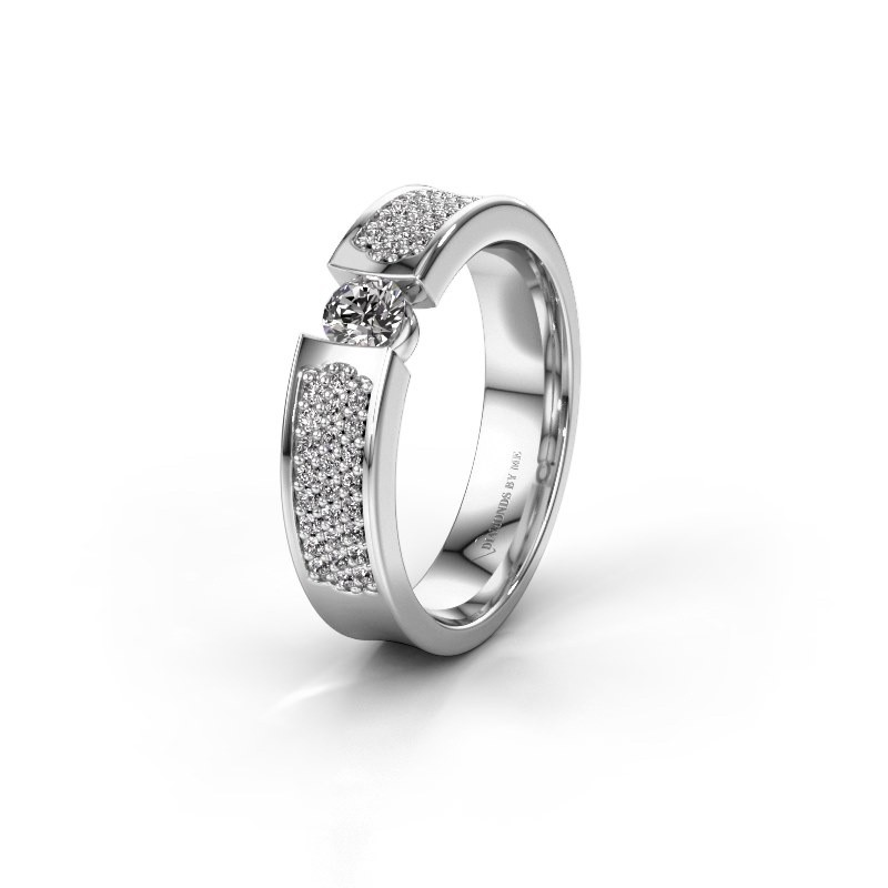 Trouwring WH2100L 585 witgoud diamant ±5x3 mm