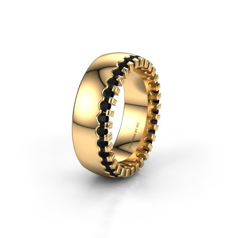 Wedding ring WH6120L27C 375 gold black diamond ±7x2.2 mm