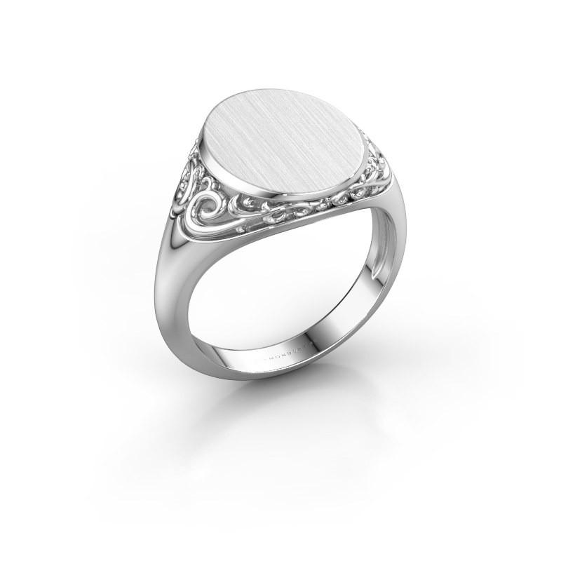 Heren ring Jelle 3 375 witgoud