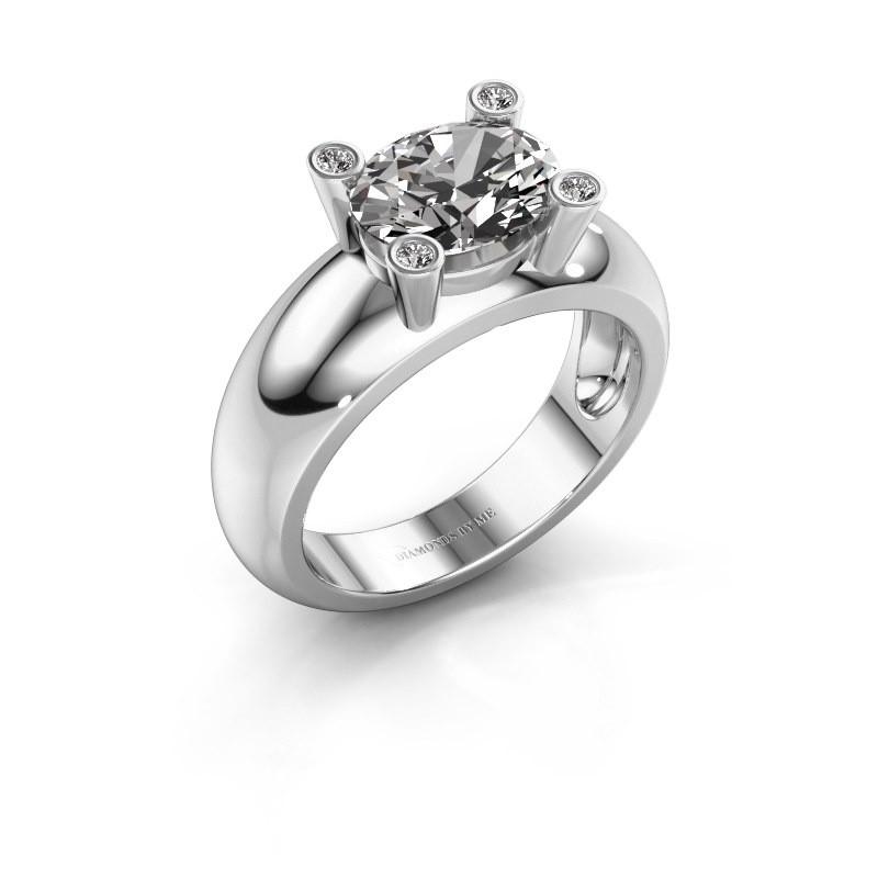 Ring Tamara OVL 925 zilver zirkonia 9x7 mm