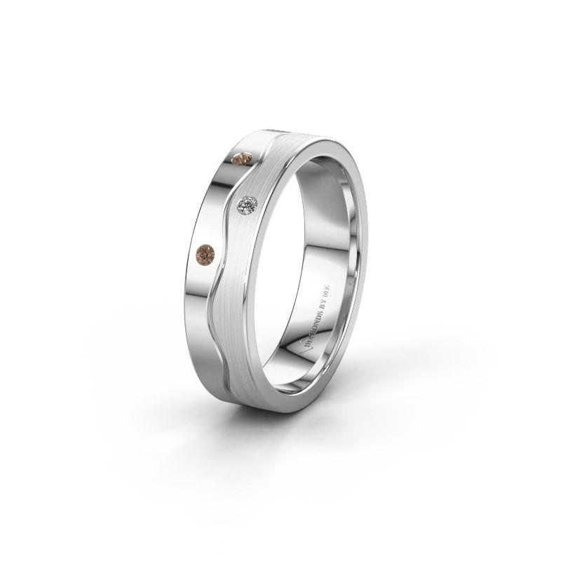 Ehering WH0701L15APM 585 Weißgold Braun Diamant ±5x1.7 mm