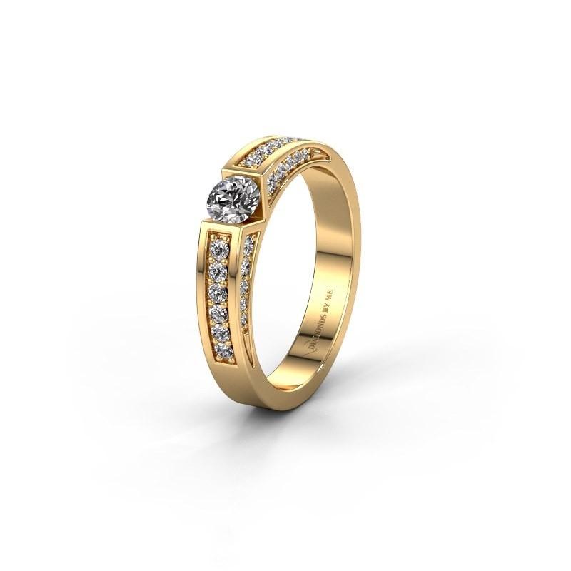 Trouwring WH2098L 375 goud zirkonia ±4x3 mm
