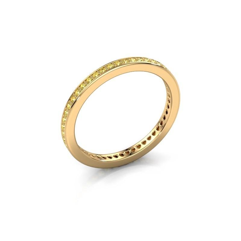 Aanschuifring Elvire 1 585 goud gele saffier 1.1 mm