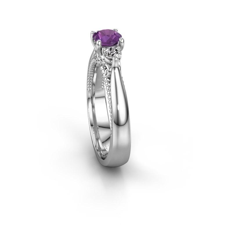 f99f5d44be4b0 Engagement ring Tiffani 585 white gold amethyst 5 mm