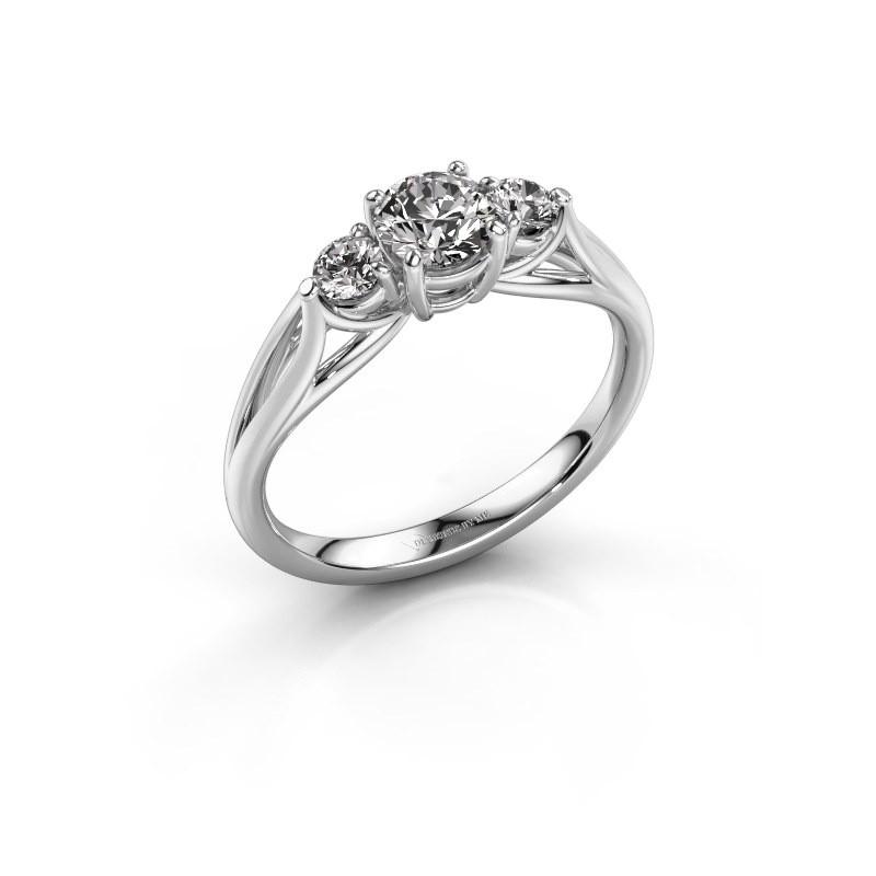 Verlovingsring Amie RND 925 zilver diamant 0.70 crt