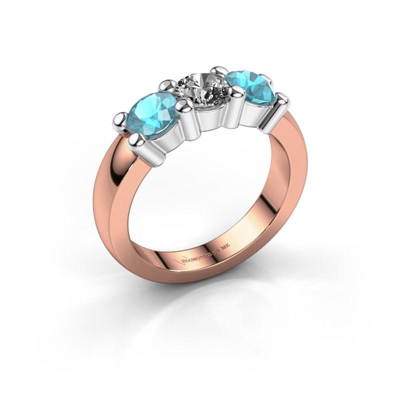 Engagement ring Yasmin 3 585 rose gold diamond 0.50 crt