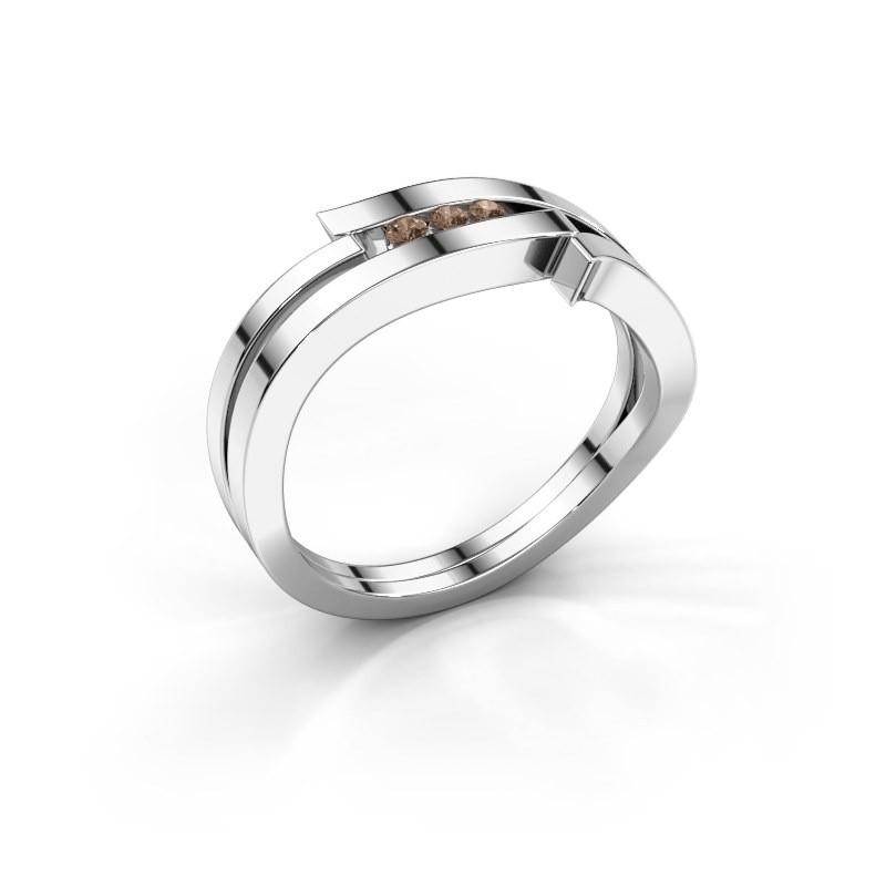 Ring Amelie 585 white gold brown diamond 0.053 crt